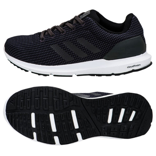 09512c236f5f32 Adidas Women s Cosmic Running Shoes Black White - 1Million Outfits