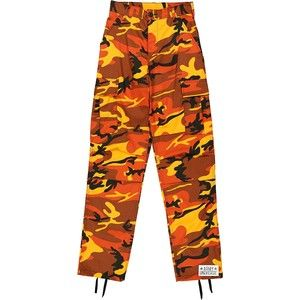 Orange Camo Cargo BDU Pants Hunters Camouflage - 1Million Outfits 13c3995585b